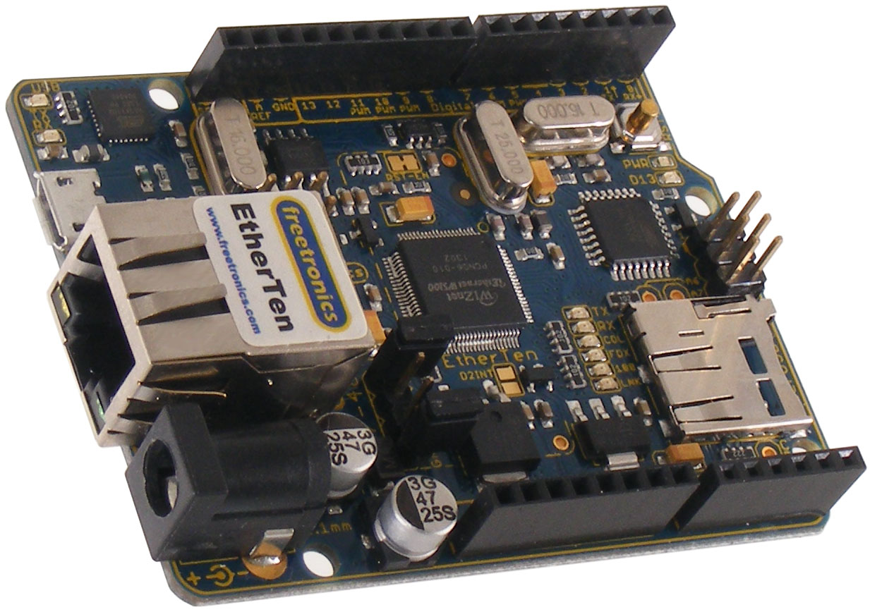Etherten arduino compatible with onboard ethernet