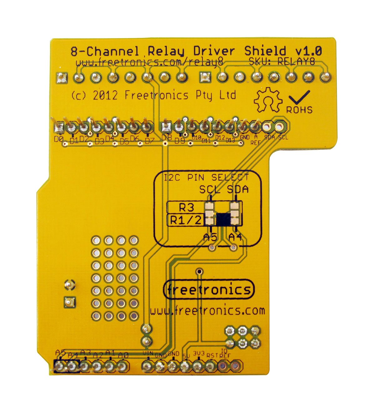 8 Channel Relay Driver Shield Superhouse Automation Basic Circuit