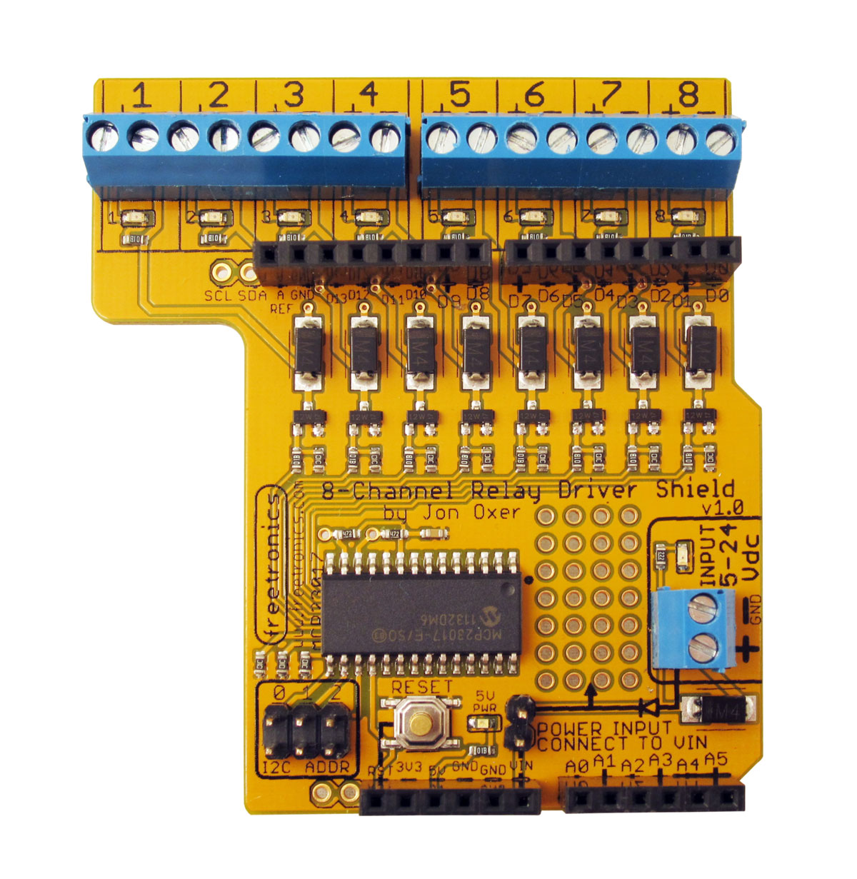 24 volt 8 pin relay wiring diagram 8-channel relay driver shield – superhouse automation arduino 8 channel relay wiring diagram #13